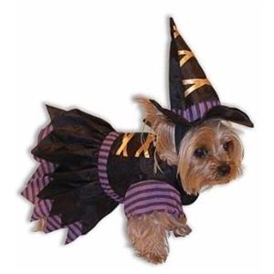 Wicked Witch Puppy Dog Cute Pet  Costume Size Large