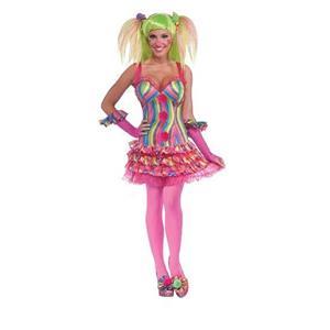 Tootsie the Clown Adult Costume Dress