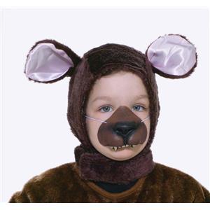 Brown Bear Animal Hood and Nose Child Costume Kit