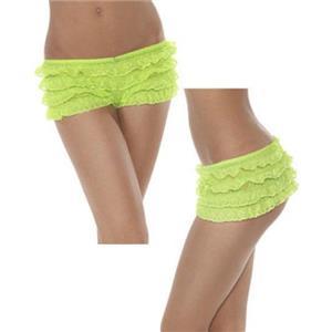 Neon Green Ruffle Panties