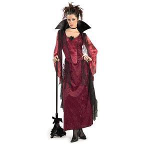 Burgundy Gothic Vampira Adult Costume