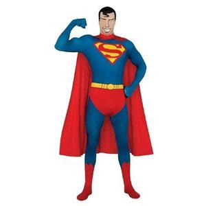 Superman Adult 2nd Skin Suit Costume Size Medium