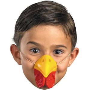 Latex Rubber Chicken Nose Costume Accessory