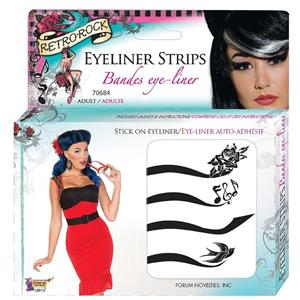 Retro Rock Eyeliner Strips Kit Stick On Eyeliner