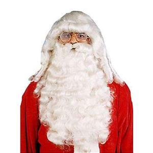 Professional Deluxe Santa Wig & Beard Set for Christmas
