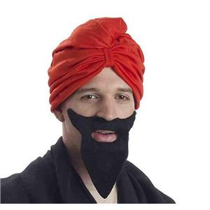 Red Turban Costume Headwrap