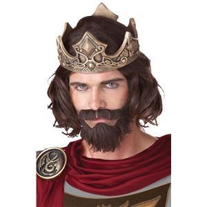 Medieval King Adult Costume Wig