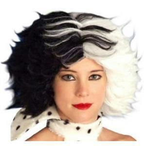 Dog Lovin' Diva Black and White Cruella Wig