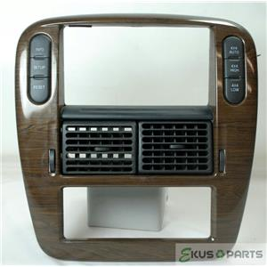 2005 Ford Explorer Radio Climate Center Trim Bezel Auto climate control with 4WD