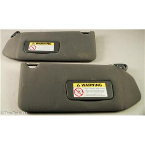 2002 Acura MDX Sun Visor Set with Covered Lighted Mirrors and Extension Panels