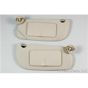 2005-2010 Chevrolet Cobalt Pontiac G5 Sun Visor Set with Covered Mirrors
