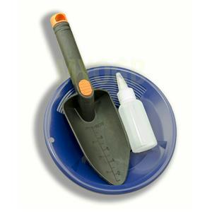 "Gold Panning Kit 8"" Blue Pan - Bottle Snuffer & Scoop - Mining Prospecting"