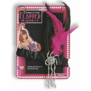 Pink and Black Flapper Roaring 20's Charleston Headpiece