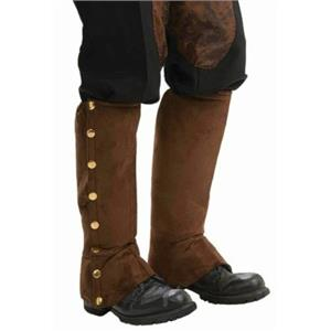 Brown Suede Steampunk Boot Spats