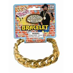 80's Gold Big Link Bracelet Chain Pimp Gangster Hip Hop