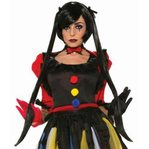 Twisted Attractions: Midnight Magic Short Black Bob with Long Pigtails Wig