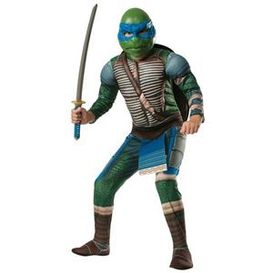 Teenage Mutant Ninja Turtles Deluxe Muscle Chest Leonardo Costume Child LARGE