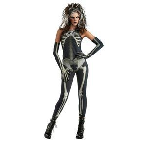 Skelee Girl Adult Skeleton Costume Size Large