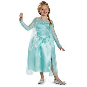 Frozen Elsa Snow Queen Gown Classic Girls Costume Size Medium 7-8
