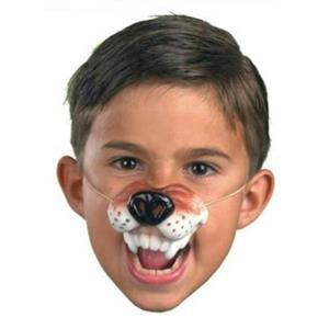 Latex Rubber Wolf Nose with Elastic Band