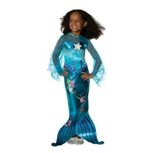 Blue Magical Mermaid Toddler Girls Child Costume Size 2-4