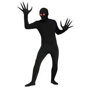 Fade Eye Shadow Demon Black Skin Suit Adult Costume