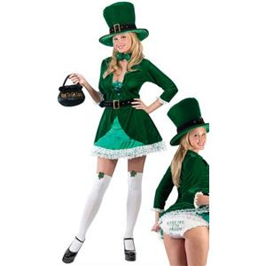 Luscious Leprechaun Sexy Adult Costume S/M