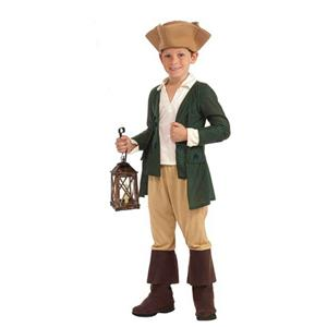 Paul Revere Child Costume Size Medium 8-10