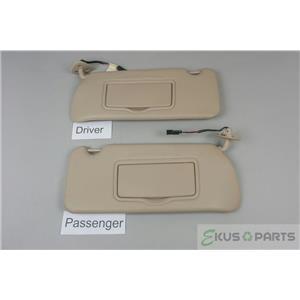 2004-2009 Cadillac SRX Sun Visor Set Pair Covered Lighted Mirrors Garage Opener