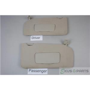 2007-2012 Nissan Altima Sedan Sun Visor Set Covered Mirrors Passenger and Driver