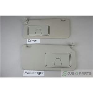 2007-2012 Suzuki SX4 Hatchback Sun Visor Set Covered Mirrors