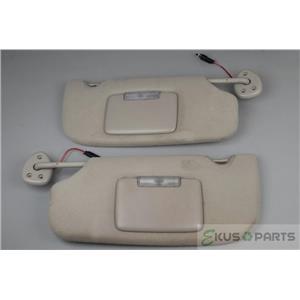 05-09 GMC Envoy Chevrolet Trailblazer Sun Visor Set Lighted Mirrors Adjust Arms