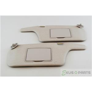 1999-2003 Mazda Protégé Sun Visor Set Pair Covered Mirrors