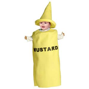Mustard Condiment Baby Infant Costume 3-9 months