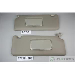 2005-2013 Nissan Titan Armada QX56  Sun Visor Set Pair Lighted Mirror Panels