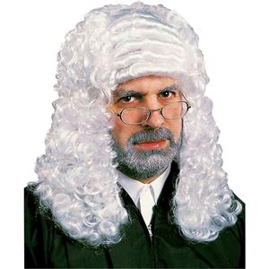 White Barrister Judge Wig