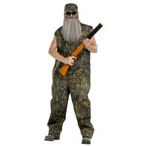 Duck Hunter Redneck Adult Costume Camo Coveralls Standard Size