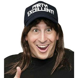 Excellent! Wayne's World Wig and Hat Costume Accessory Kit