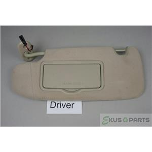 2007-2012 Fusion MKZ Milan Driver Left Sun Visor Covered Lighted Mirror Beige