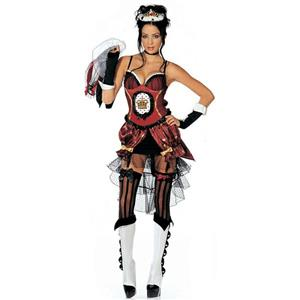 Womens 8 Piece Sexy Queen of Heartbreaks Heartbroken Adult Costume Size S/M