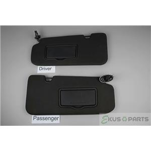 2010-2011 Ford Escape Tribute Mariner Sun Visor Set Pair Covered Lighted Mirrors