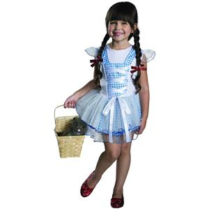 Wizard of Oz Girls Tutu Dorothy Child Costume Size Medium 8-10