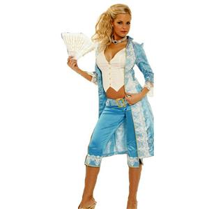 Women's Victorian Pirate Lady Sexy 3 Piece Adult Costume Size Medium