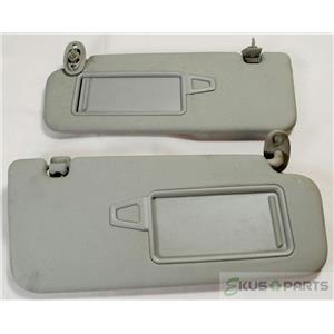 2010-2013 Kia Forte Sun Visor Set Pair Covered Mirrors Extension Panels