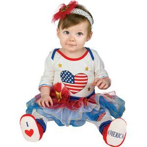 Lil Firecracker Patriotic Tutu Leggings Headband Booties Infant 6-12 months