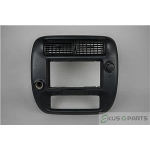 1995-2011 Ford Ranger Radio Climate Trim Bezel 2WD with Vents and 12V Outlets