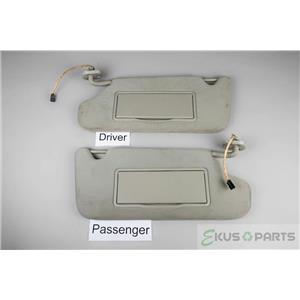 2006-2013 Chevrolet Impala Sun Visor Set Pair Lighted Mirrors Adjustable Bars