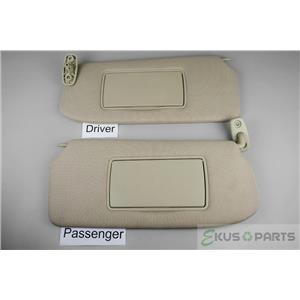 2007-2012 Nissan Sentra Sedan Sun Visor Set Pair Covered Non-Lighted Mirrors