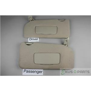 07-2012 Nissan Altima Sedan Only Sun Visor Set Pair Lighted Mirrors Extend Panel