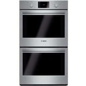 """Bosch 500 30"""" European Convection Double Electric Wall Ovens HBL5651UC Stainless"""